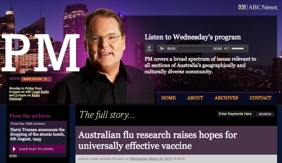 Australian flu research raises hopes for universally effective vaccine