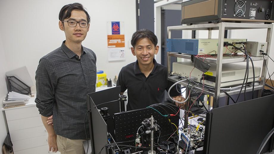 Barcode scanner microscope films neurons firing
